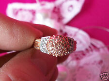 Generations 1912 14K Rose Gold .81 ctw Genuine Pink & White Diamonds Ring Size 8