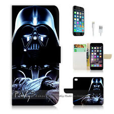 "iPhone 6 Plus (5.5"") Print Flip Wallet Case Cover! Starwars Darth Vader P0077"
