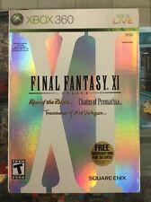 Final Fantasy XI Online (Microsoft Xbox 360) Original Factory Sealed W/Slipcover
