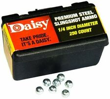 New! Daisy Slingshot Ammo Steel Balls 250Pk 1/4 Inch Zinc Plated (Model# 8114)