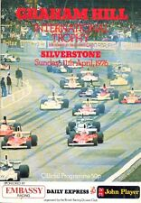 Graham Hill International Trophy Silverstone 11/4/76 programme + lap chart