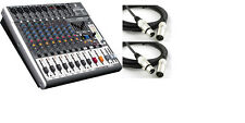 Behringer XENYX X1222USB 12-Input USB Audio Mixer (2 FREE XLR Cables included)