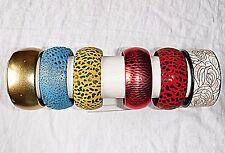 6 braccialetti in pelle Faux pelle m.o.p CAMOSCIO ELEGANTE vari colori braccialetti