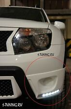 2010-2015 Dacia Renault Duster Front Fog Light Lamp Cover Trim with LED DRL 2pcs