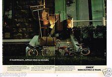 Publicité advertising 1977 (2 pages) Train SNCF