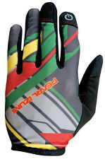Pearl Izumi Divide Full Finger Mountain Bike MTB Gloves Rasta - Small