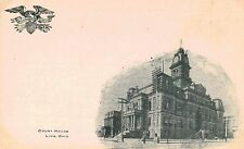 Lima,Ohio,Allen County Court House,Private Mailing Postcard,c.1901-06