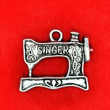 4 x Tibetan Silver Sewing Machine Charm Pendant Finding Beading Making