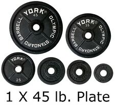 Weight Plates York Barbell 45 lb New Olympic Bk Legacy 29035