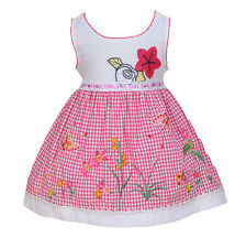 Neuf Bébé Filles Blanc et Rose Robe Fleurie De Fête 9-12 Mois