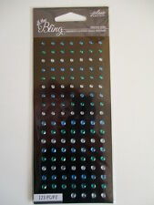 Jolee's Boutique All That Bling Adhesive Gems stickers - Blue Mini Round