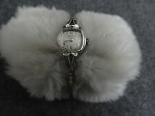 Caravelle Wind Up Vintage Ladies Watch with a Stretch Band