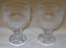 Iittala Oiva Toikka Vintage Wine Peony Pioni Clear Glasses Nuutajarvi Finland