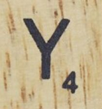 INDIVIDUAL WOOD SCRABBLE TILES! 8 FOR $2, OR 25 CENTS PER TILE. LETTER Y
