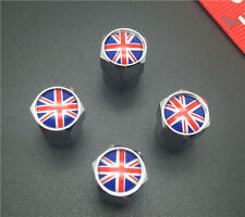 4PCS British flag Tire Wheel Rims Stem Air Valve Caps Tyre Cover Car Truck Bike