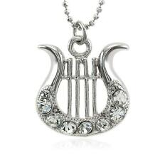 Christmas Holiday Gift Present Harp Instrument Necklace Pendant Charm Girl Women