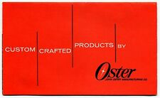 Vintage OSTER Advertising Sales Brochure: MASSAGERS, HAIR CLIPPERS +