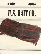Bass Jig Skirts Living Rubber Lot Of 10 Color Brown Black Red