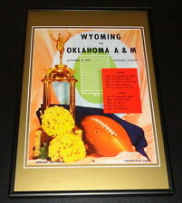 1954 Wyoming vs Oklahoma A&M Football Framed 10x14 Poster Official Repro