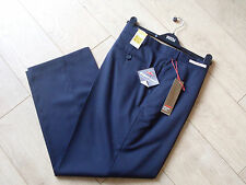 """M & S MENS 100% WOOL TROUSERS  - COLLEZIONE -  NAVY - 44"""" L29"""" - BNWT"""