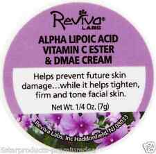 NEW REVIVA LABS ALPHA LIPOIC ACID VITAMIN C ESTER & DMAE CREAM YOUGHTFUL DAILY