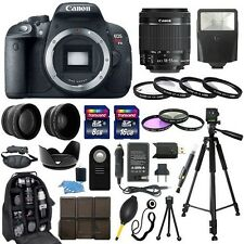 Canon EOS Rebel T5i SLR Camera + 18-55mm STM Lens + 30 Piece Accessory Bundle.