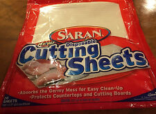SARAN CUTTING SHEETS DISPOSABLE NEW 18 OPENED