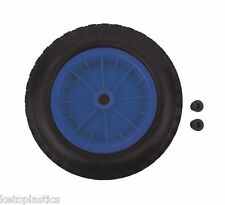 "PU 16"" PUNCTURE PROOF BLUE WHEELBARROW WHEEL TYRE 4.80 - 8 FOAM FILLED"