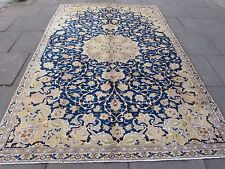 Old Traditional Hand Made 10x7 Persian Oriental Wool Blue Large Carpet 314x208cm
