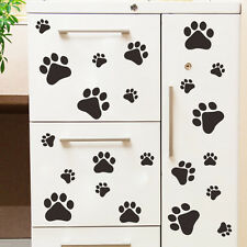 Removable PAW PRINT STICKERS 22 Any Colour Car Wall Art Decals Graphics Cat Dogs