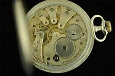 VINTAGE 50.7MM TAVANNES .875 SILVER SPIRAL BREGUET HUNTING POCKET WATCH