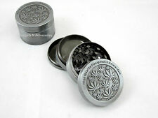 METAL AMSTERDAM 50MM 4 PART SHARK TEETH MAGNETIC GRINDER HERB TOBACCO ENGRAVED