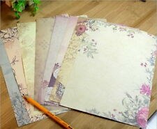 40X Romantic Flower Writing Letter Paper European Retro Vintage Stationery Set タ