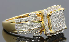 .62 CARAT REAL DIAMOND WOMEN YELLOW GOLD FINISH DIAMOND ENGAGEMENT WEDDING RING