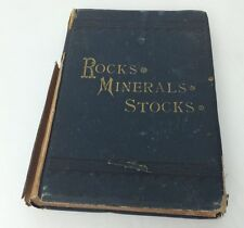 Antique Geology Book Rocks, Minerals & Stocks 1882 Frederick Smith Rare Book