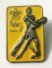 Pin Spilla Olimpiadi Calgary '88 Pattinaggio Artistico Figure Skating