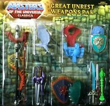 Great Unrest Weapons Pak Masters of the Universe Classics MOTU NEU MotU-Classics
