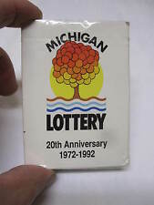 Vintage 90s MICHIGAN LOTTERY Playing Cards Advertising 20 Year Anni. SEALED