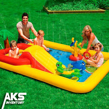 Inflatable Water Slide Pool Kids Play Outdoor Center Swimming Fun Summer Toys