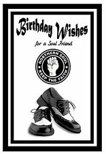 NORTHERN SOUL (SHOES) - HAPPY  BIRTHDAY  CARD - BRAND NEW - GLOSS FINISH