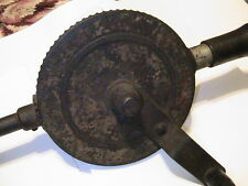 ANTIQUE HAND CRANK DRILL WITH BREAST& SHOULDER PLATE POSSIBLY MILLERS FALLS