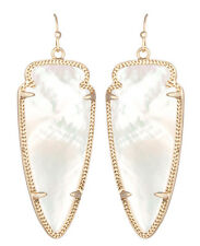 Kendra Scott Skylar Dangle Earrings in Creamy Pearl & 14K Gold Plated