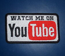Watch Me On YouTube Embroidered Patch - sew on