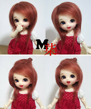 "3""-4""9-10cm BJD fabric fur wig brick Red for AE PukiFee lati 1/12 Doll Antiskid"