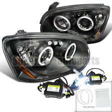 2004-2005 Subaru Impreza WRX Halo LED Projector Headlights Black+6000K HID Kit