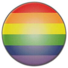 Bumper Stickers: Round Gay Pride Rainbow Sticker | Gay Lesbian Ally | Support
