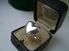 GORGEOUS SOLID STERLING SILVER HEART SHAPED LOCKET PILL POISON RING SIZE S RARE