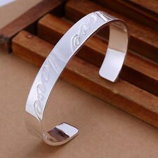 Promotion Price 925Sterling  Silver lOVE Marked Cuff Bracelet GB014