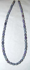 "RARE - SOUTH AFRICAN SUGILITE IN GRAY HEMATITE BARREL BEADS - 17"" Strand - 204C"