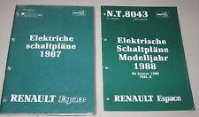 Werkstatthandbuch Renault Espace I Typ J11 Elektrische Schaltpläne Elektrik 1987